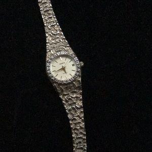 Geneva gold tone watch